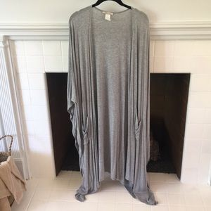 Heather Grey Full Length Cardigan